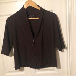 Eileen Fisher Brown Cashmere Cardigan Sweater